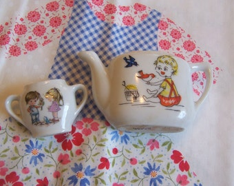 two darling play porcelain dishes