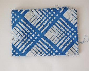 1 Yard Vintage Plaid in Blue and White