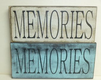 LG MEMORIES SIGN / memories / photo gallery sign / wall sign / hand painted sign / memory wall sign / wood sign / memories sign / cottage