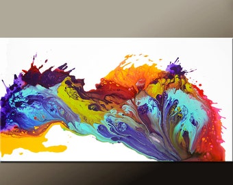 Abstract Canvas Art Painting - 48x24 Original Wall art by Destiny Womack - dWo -  Joy Within