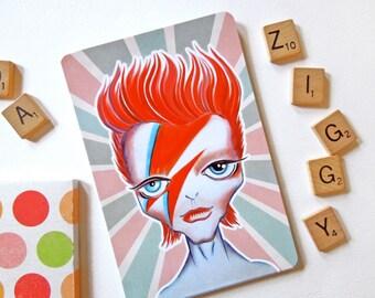 Ziggy Stardust Postcard, David Bowie Postcard, Alien Limited Edition Postcard, Postcrossing