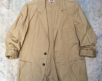 vintage Banana Republic slouchy lightweight khaki cotton blazer
