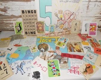 Vintage Ephemera Pack #2, Junk Journal, Journal Supply, Scrapbooking Supply, Mixed Media, 50 + Paper Pack