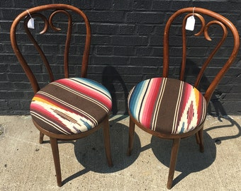 Pair of Mid Century Thonet Bentwood Cafe Kitchen Chairs