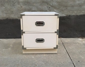 WhiteCampaign Nighstand Cabinet