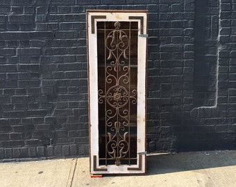 Wood, Ceiling Tin & Iron Gate Cupboard Cabinet