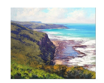 CODE331 Coupon code: 15% offLarge Beach Painting Original oil Seascape Impressionist Ocean Wall Art