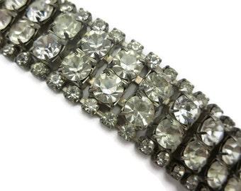 Art Deco Bracelet - Vintage Rhinestone Bridal Jewelry, Costume Jewelry