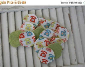 SALE 10% OFF Set of 14 Reusable Face Scrubbies, Facial Rounds, Make Up pads,Lotion Applicators, Infant Washies