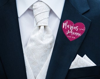 50pcs stickers heart shape wedding
