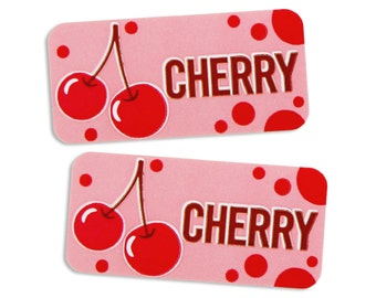 Cherry Bakery Labels - stickers for packaging cookies, cake, treats, and baked goods