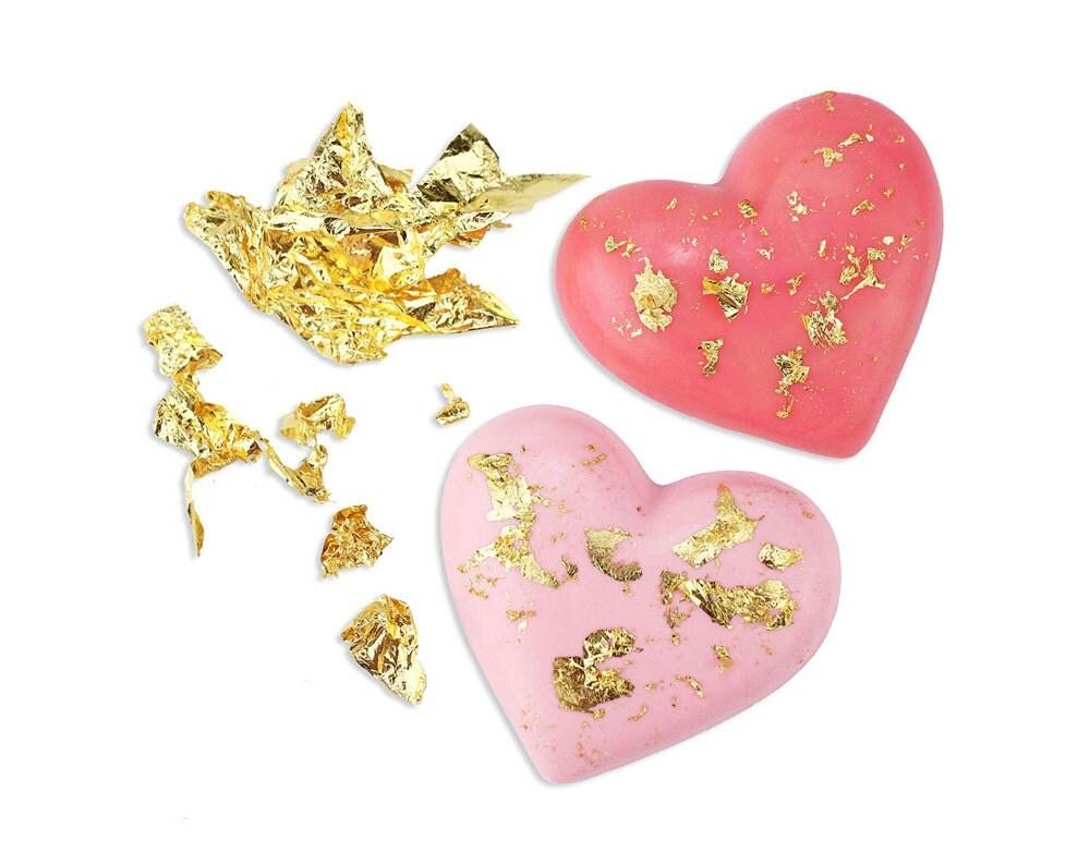 Edible Gold Leaf Cake Decorating : Edible Gold Leaf Pure 23 Karat Gold for Decorating Cupcakes