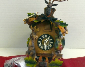 Cuckoo Clock DIY Project - Germany - Deer - Time Piece - Vintage - Collectible
