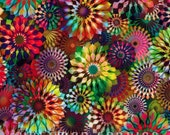 Rainbow Floral Crystalia Digital Spectrum Hoffman Fabric 28 inches LAST IN STOCK
