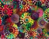 Rainbow Floral Crystalia Digital Spectrum Hoffman Fabric 1 yard