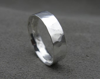Rustic Comfort Fit - Unisex Sterling Silver Ring