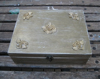 GOLD JEWELRY BOX  Boho Chic Home Decor,necklaces storage,earring cabinet