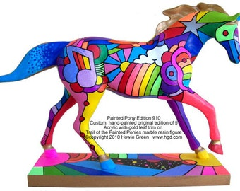 Trail of the Painted Ponies custom original - Pop Art Pony 910 Limited Edition of 5