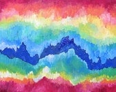 Spectrum Large Colorful Original Mixed Media Acrylic Painting 24x30 Ready to Hang
