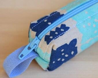 Paper Bandana Bitty Bag (petite pencil or makeup case)