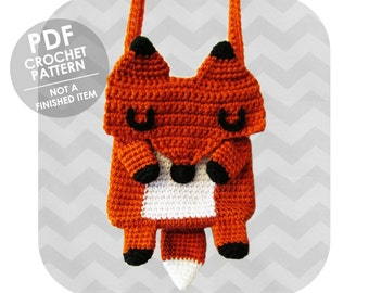 Amazing Kawaii Fox crossbody bag - PDF crochet pattern - INSTANT DOWNLOAD