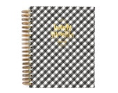 17 month 2017 Gingham Planner