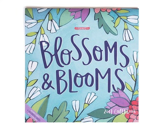 SALE 2017 Blossoms and Blooms Wall Calendar