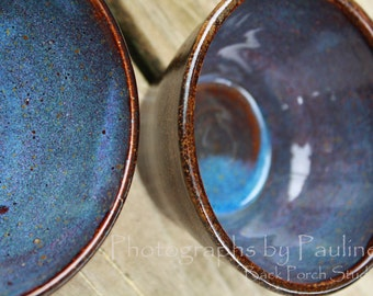 Blue and Brown Kitchen Prep Bowl