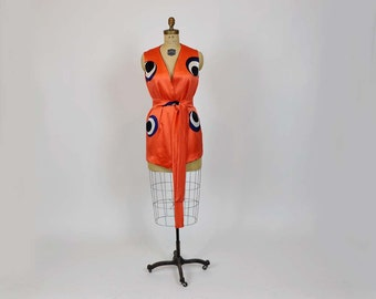 1960s vest / Bullseye Vintage 60's Op Art Vest Apres- Inge