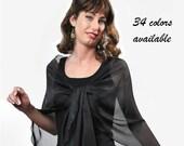 Promo Sale Silk Chiffon Shawl. 34 colors available