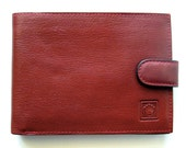 Vintage ROLEX Red Leather Wallet / Switzerland / Excellent Condition - Unused