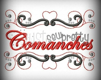 Comanches Pride Embroidery Design