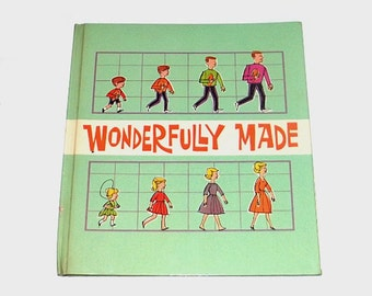 1960s mod children's book / 60s vintage book / Wonderfully Made Sex Ed Childrens Book