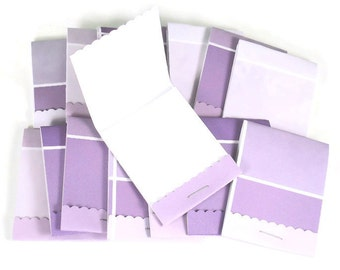 20 Matchbook Notepads   Match Books Mini Note Pads in Paint Chip Purple