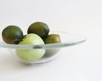 Glass Fruit Bowl // Large Modern Style Bowl // Vintage Home Decor
