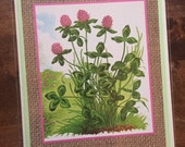 Red Clover Blank Card