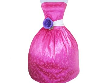 Pink Bamboo Stretchy Satin Diva Dress LIMITED EDITIONChic Doll inspired Womens