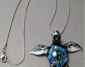 Loggerhead  Sea Turtle endangered species series help save the turtles// Two sizes