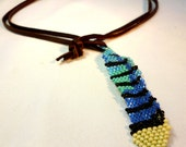 Feathers and Leather - Blue Jay Feather Necklace