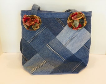 Denim Upcycled Jeans Tote