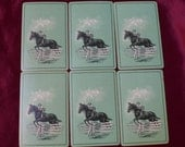 Vintage Equestrian Horse Jumper Playing Cards