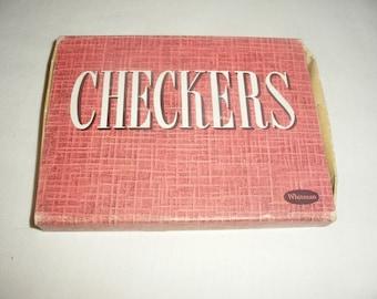 Vintage Plastic Checker Set With Original Box by Whitman