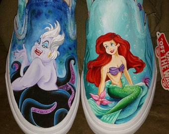 Custom Disney Vans the little Mermaid Ariel