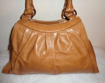 HOBO INTERNATIONAL  med size purse tote satchel genuine Italian leather brown dual strap vintage excellent condition