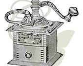 Coffee Grinder Digital Vintage Illustration Image Transfer Image Download Printable Graphic Clip Art 306