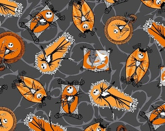 Disney's The Nightmare Before Christmas Halloween Jack Fabric By The Yard
