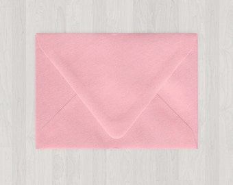 10 A9 Envelopes - Euro Flap - Pink - DIY Invitations - Envelopes for Weddings and Other Events