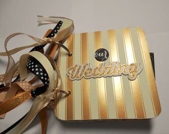 Wedding Mini Album, Wedding Scrapbook, Wedding Memory Album, Wedding Brag Book, Wedding Photo Album, Premade Album, Chipboard Album, Wedding