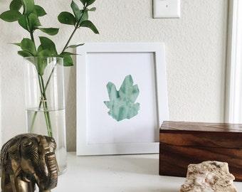 Watercolor Green Quartz Print - Summer 16 Series