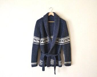 Vintage 70's Ethnic Knit Cardigan